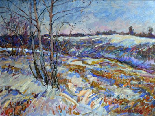 "Grigory Victorovich Efimenko. ""On the edge of winter"""