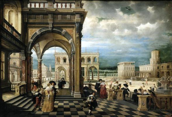 Хендрик ван Стенвейк Младший. Итальянский дворец