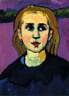 Gabriele Münter. The woman in black