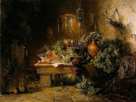 Мария Вос. Натюрморт с овощами