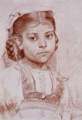 Anton Azhbe. Portrait of a girl from Dalmatia
