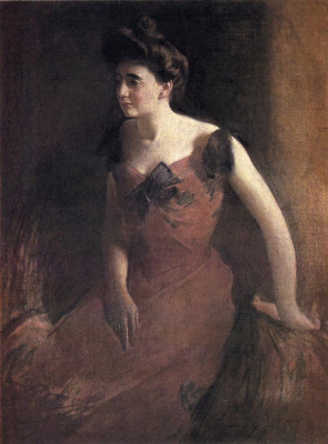 Джон Уайт Александер. Женщина в красном платье