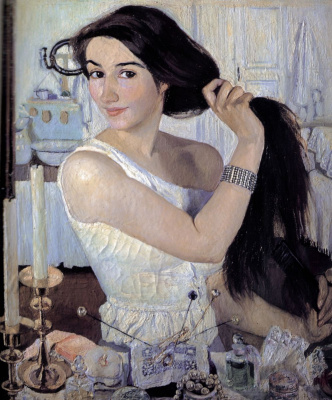 Zinaida Evgenievna Serebryakova. Over the toilet. Self-portrait