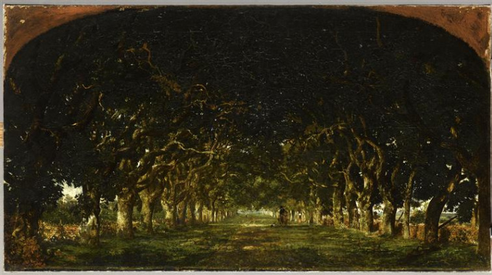 Theodore Rousseau. Alley of chestnut trees
