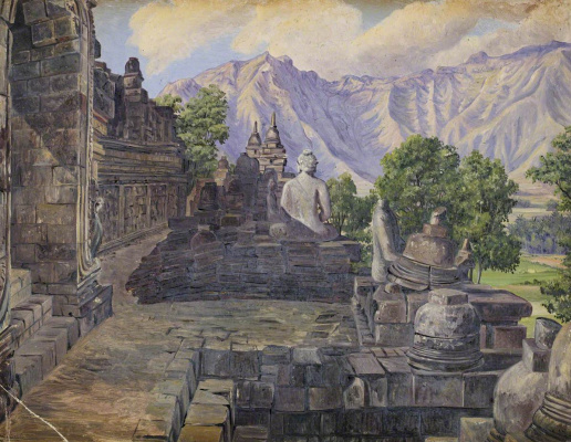 Marianna North. Boro-Bodo Temple, Java