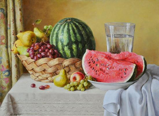 Yuri Viktorovich Kudrin. Still life with watermelon. 2013