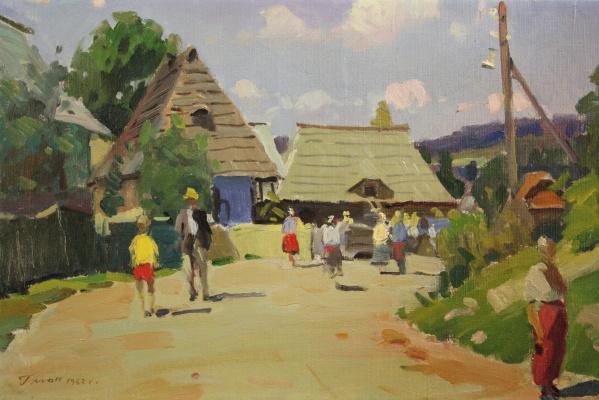 Gabriel Martynovich Gluck. Village street