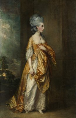 Thomas Gainsborough. Portrait of Mrs. grace Dalrymple Elliot