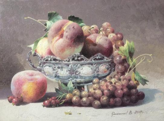 Vasily Ivanovich Gribennikov. Still life with peaches