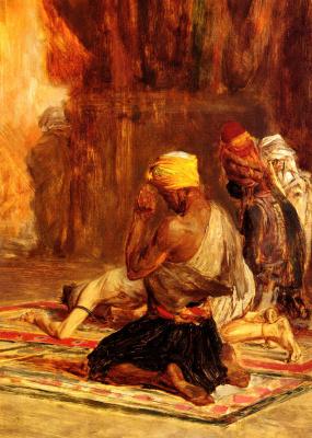 Шарль Барг. Молитва в мечети