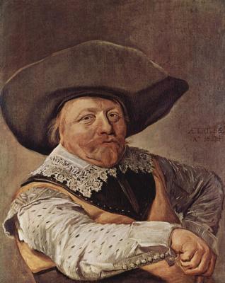 Франс Халс. Портрет сидящего офицера, упирающегося рукой в бок