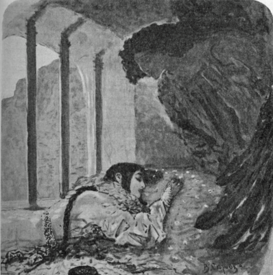 "Illustration to the poem by Mikhail Lermontov ""Demon"""