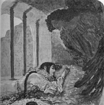 "Illustration to the poem by Mikhail Lermontov ""Demon"""