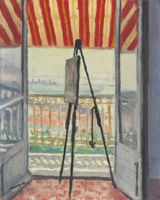 Albert Marquet. The balcony under a striped awning