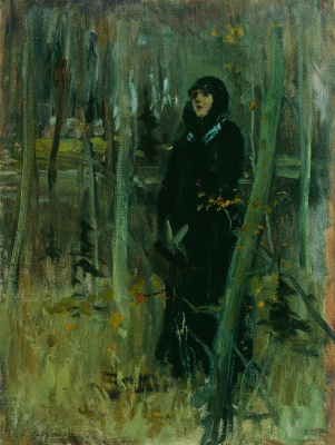 Abram Arkhipov. In the forest for berries. Etude