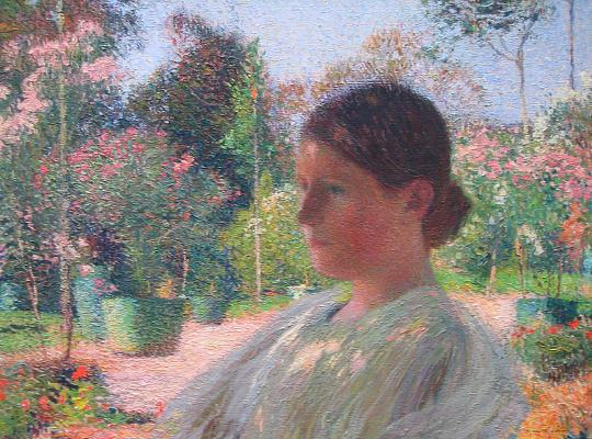 Henri Martin. Pensive young woman