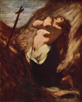 Honore Daumier. Mary Magdalene