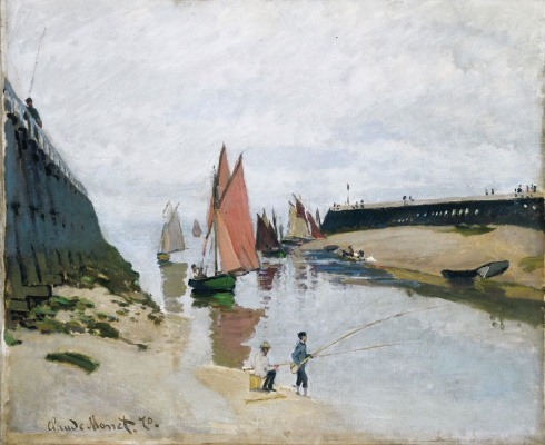 Claude Monet. The entrance to the port of Trouville