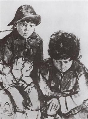 Children Serov. Yura and Sasha