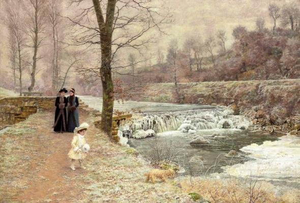 Франсуа Мари Фермин Жерар. Прогулка у реки