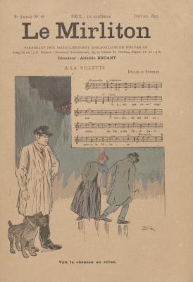 """Теофиль-Александр Стейнлен. Иллюстрация для журнала """"Мирлитон"""" № 78, январь 1892 года"""