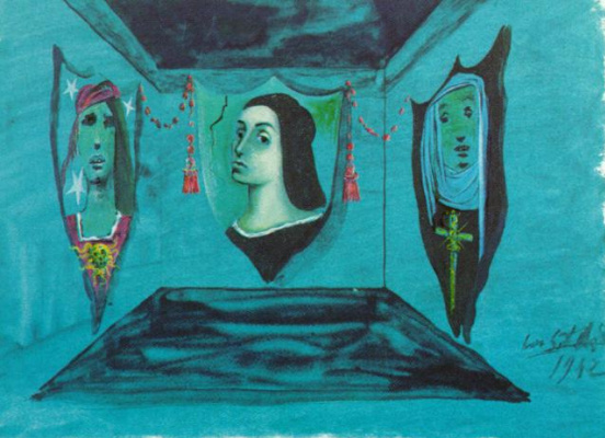 """Salvador Dali. The backdrop for performances of """"Romeo and Juliet"""""""