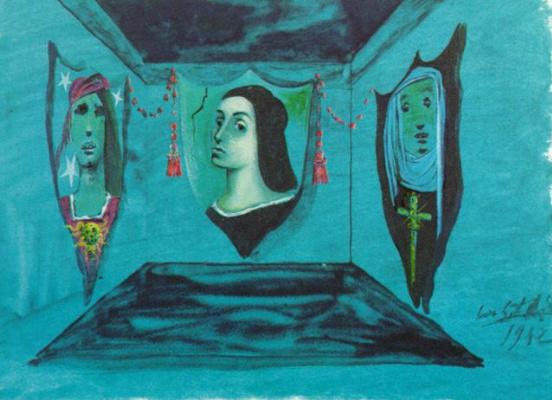 """Сальвадор Дали. Декорация для постановки """"Ромео и Джульетта"""""""