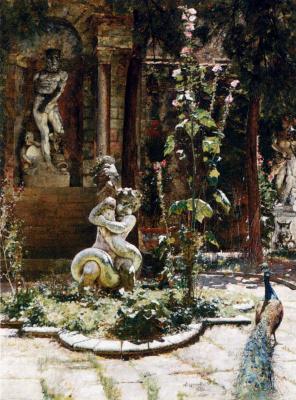 Уильям Логсдейл. Статуя в саду