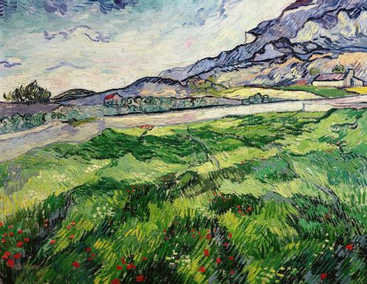 Винсент Ван Гог. Поле с зеленой пшеницей