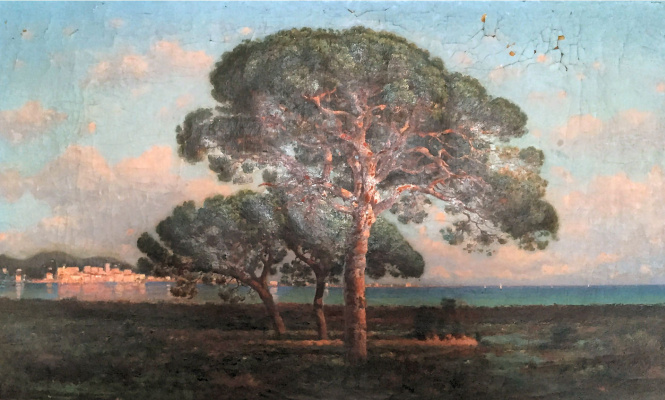 Nikolay Ivanovich Yurasov. Landscape in nice