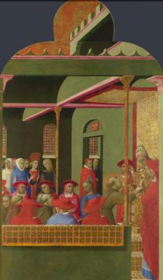 Сассетта. Святой Франциск перед Папой Гонорием III