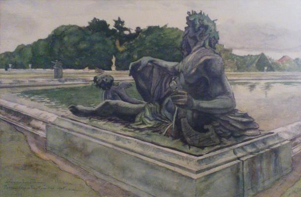 Alexandre Benois. Versailles. A Statue Of Neptune