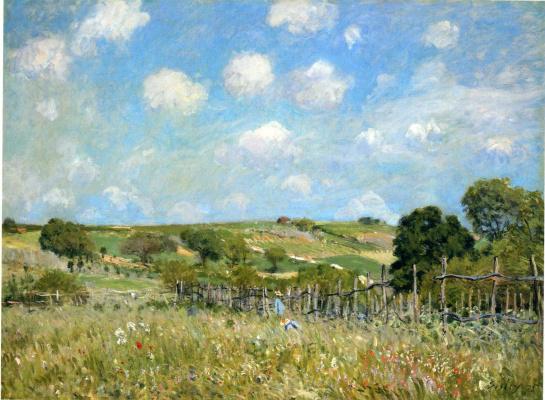 Alfred Sisley. Meadow
