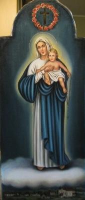 Ядвига Сенько. Дева Мария Святого Розария - икона католическая (холст,масло)