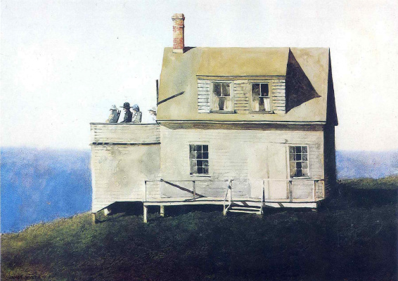Jamie Wyeth. Waiting for the boats