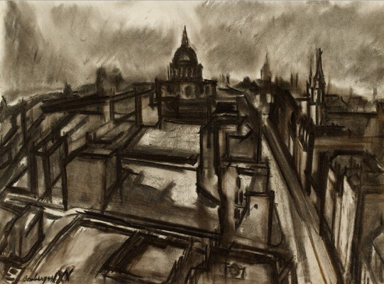 David Bomberg. London after the Blitz