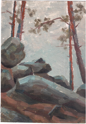 Arkady Pavlovich Laptev. Rocks in the forest