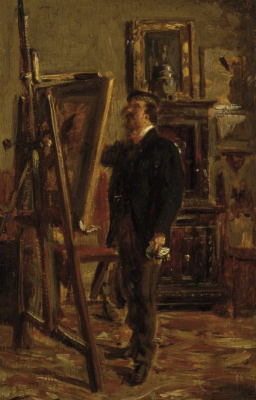 Giovanni Boldini. Portrait of Christian Bunty at work