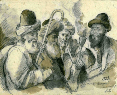 Amshey Markovic Nuremberg. Tashkent. Blind beggars. Opium smokers.