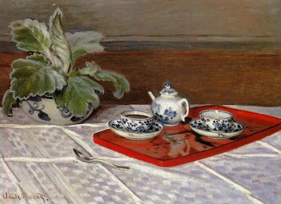 Claude Monet. Tea set