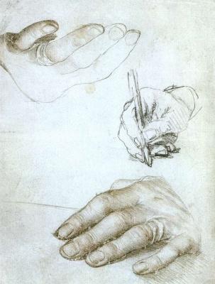 Ганс Гольбейн Младший. Исследование руки