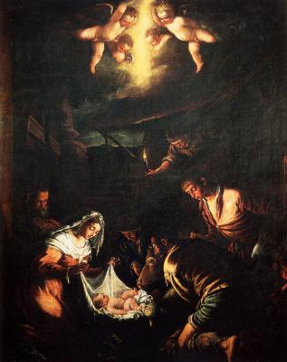 Jacopo da Ponte Bassano. The adoration of the shepherds