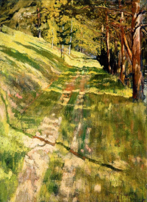 Isaac Brodsky. Road in the forest