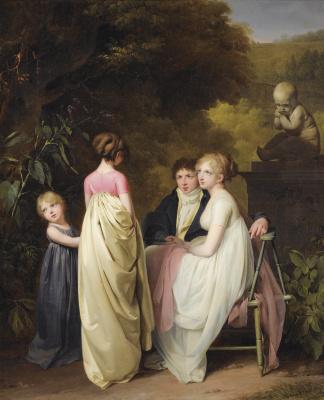 Louis-Leopold Boi. Conversation in the park