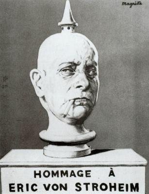 René Magritte. Dedication to Eric von Stroheim