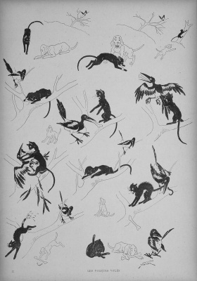 Theophile-Alexander Steinlen. Cats: pictures without words. To Rob the robber