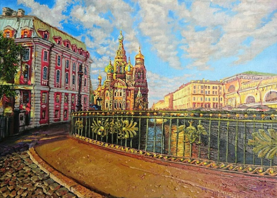 Evgeny Vladimirovich Terentyev. View of Spas from the bridge