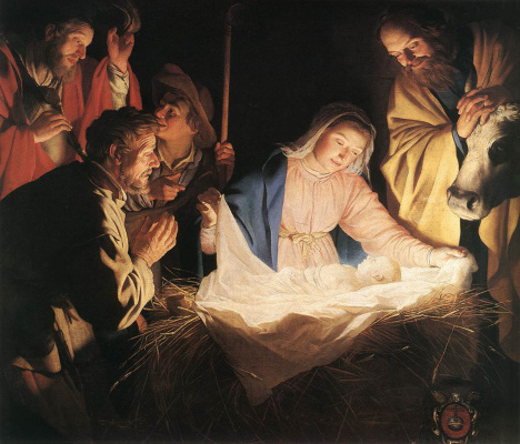 Gerard van Honthorst. The adoration of the shepherds