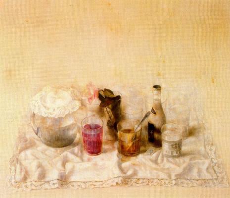 Кристобаль Тораль. Натюрморт с розовой розой