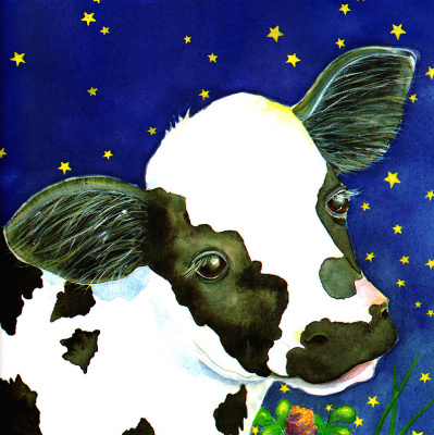 Джейн Дайер. Корова и звездное небо